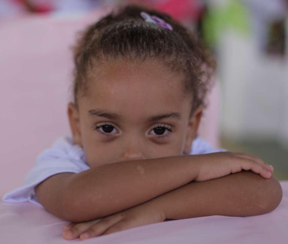 Een van de kinderen bij CAMM